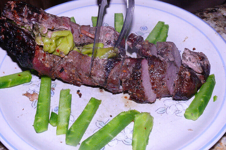 raw or grilled cactus