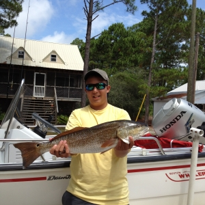 Redfish on a Boston Whaler