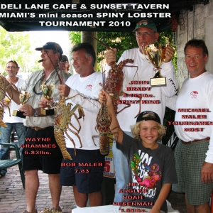 Sunset Tavern Spiny Lobster Tournament